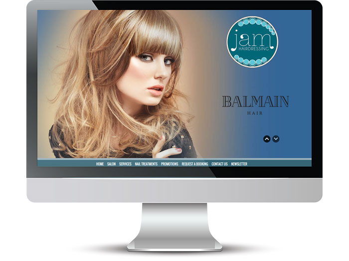 Jam Hairdressing Web Screenshot