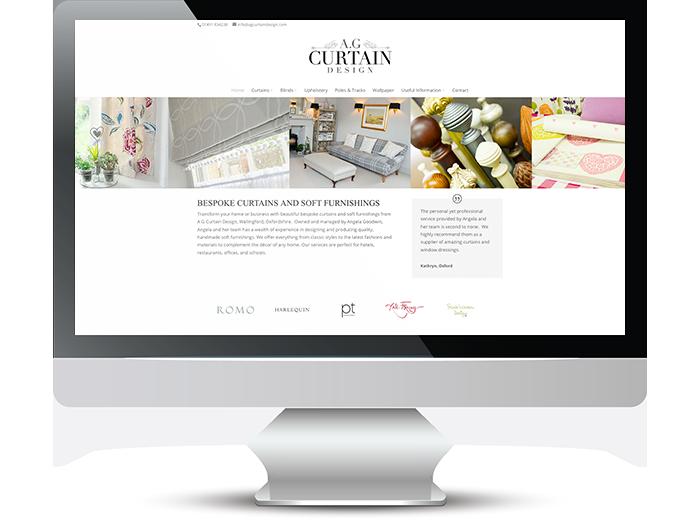 AG Curtain Design Web Screenshot