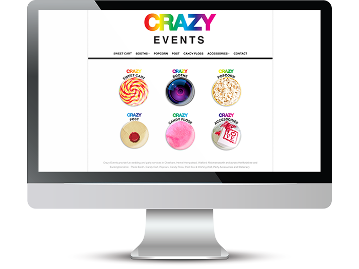Crazy Events Web Screenshot