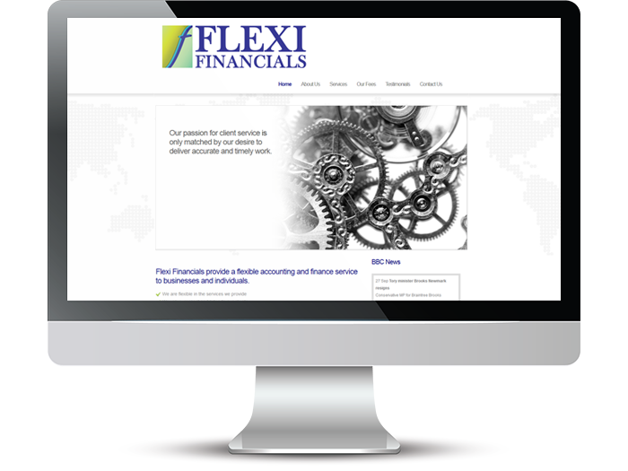 Flexi Financials Web Screenshot