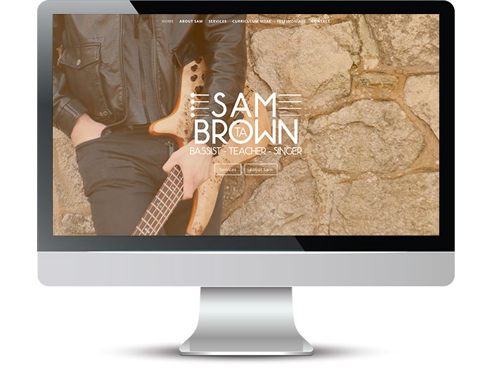 Sam TA Brown Bassist Web Screenshot