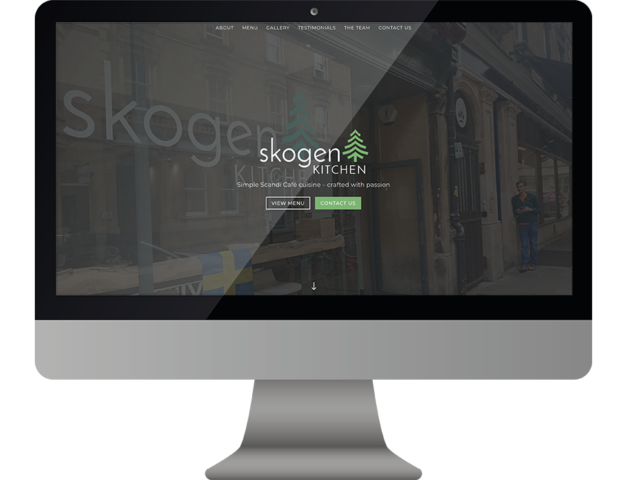 Skogen Kitchen Web Screenshot